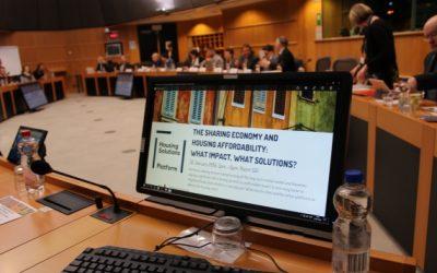 Fairbnb at EU Parliament