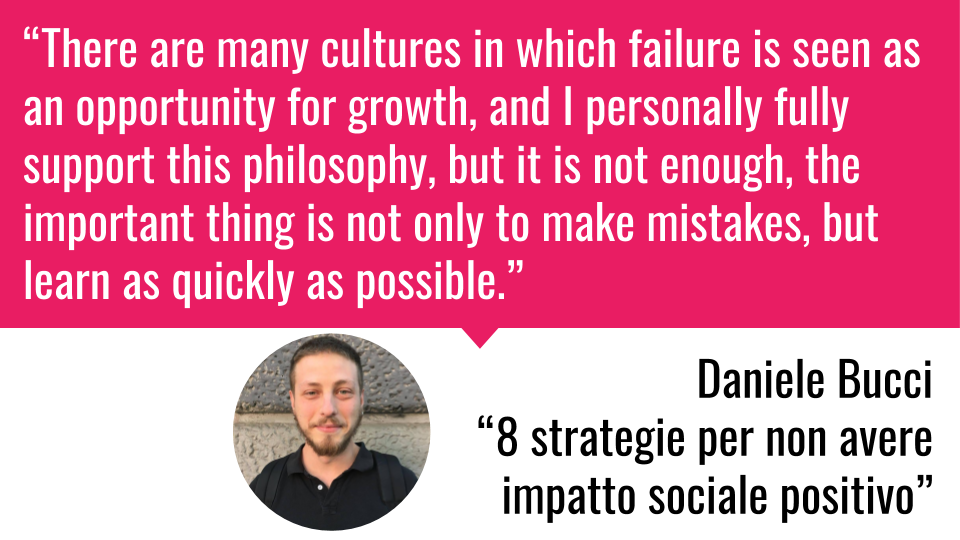 """Complex -  """"There are many cultures in which failure is seen as an opportunity for growth, and I personally fully support this philosophy, but it is not enough, the important thing is not only to make mistakes, but learn as quickly as possible."""" (10)"""