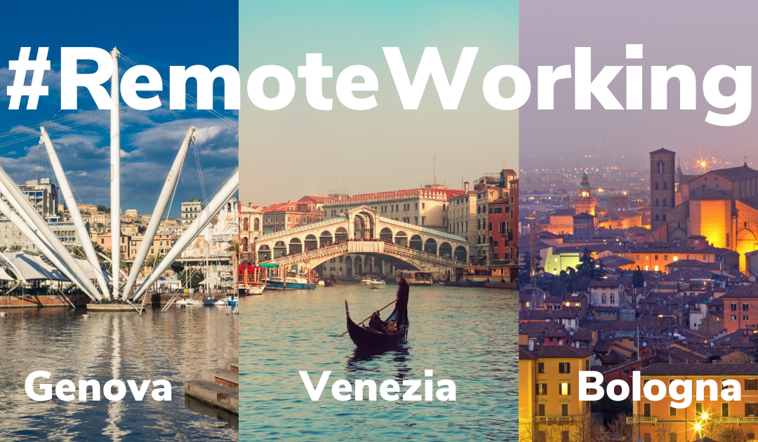 Your remote working in a holiday cottage or home in Italy at Venice, Bologna and Genoa