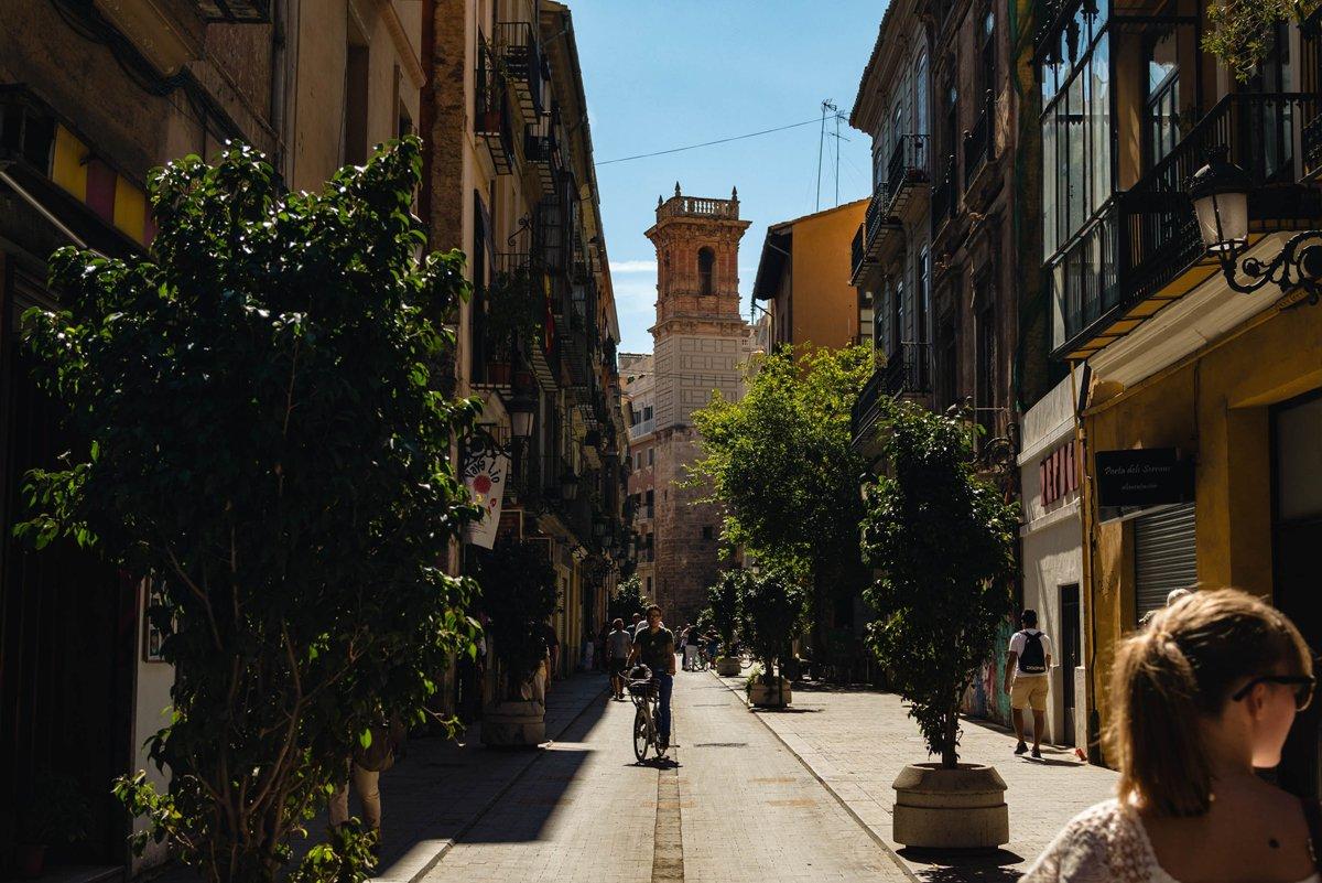 City walking in Valencia