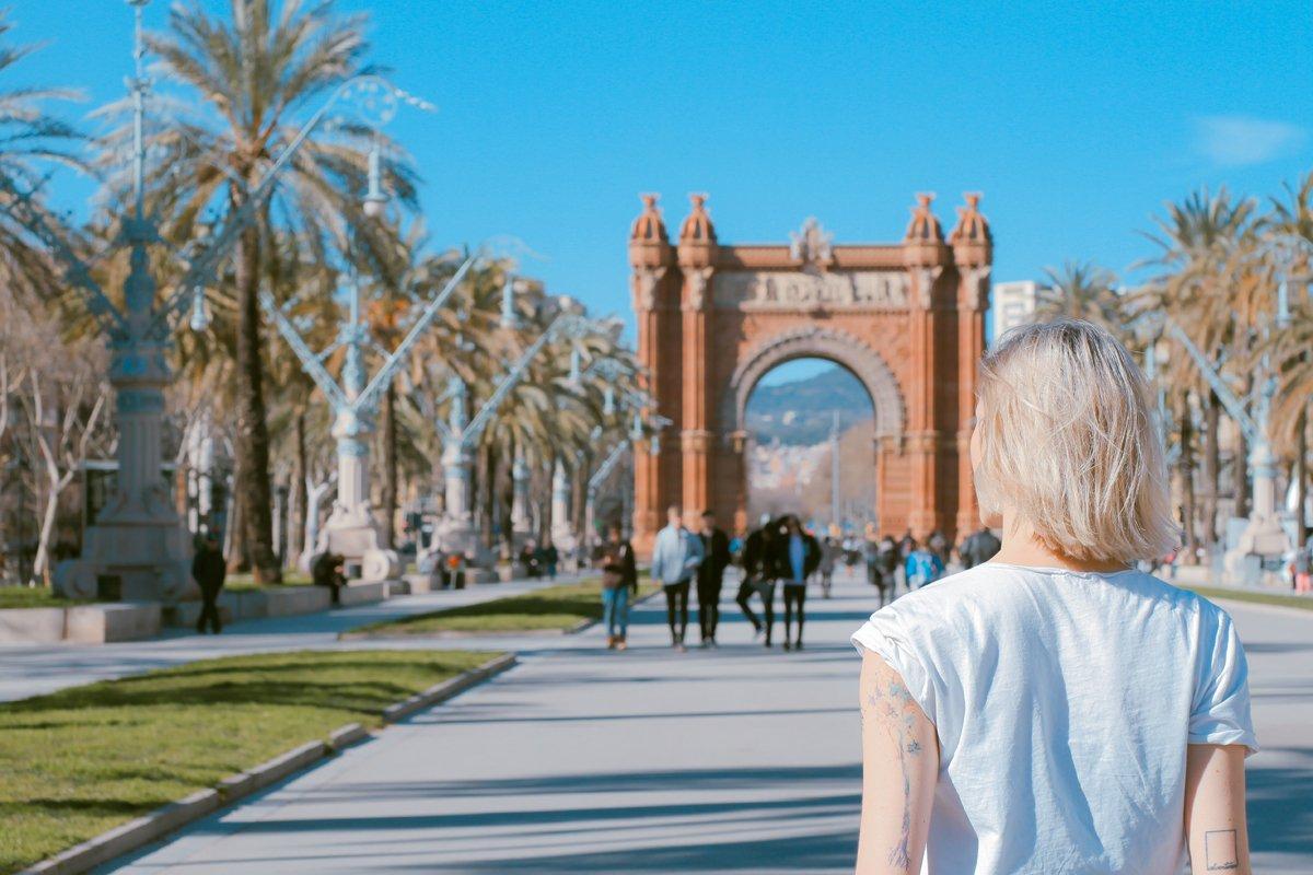 city walking in Barcelona