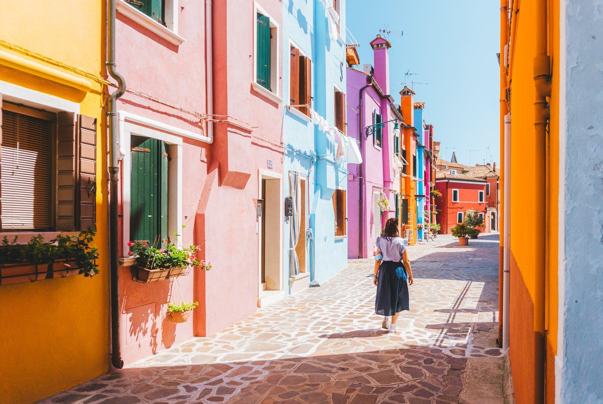 City walking in Venice