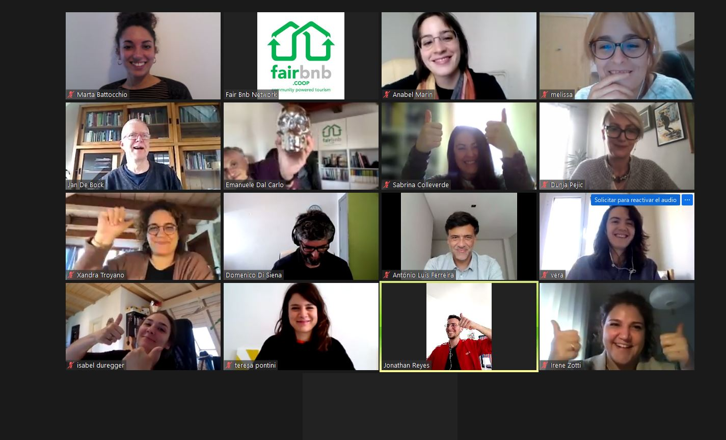FairLab challenges: addressing coop Values, sustainability, and hosts criteria During our weekly meeting, Adolfo presented us a general map based on the actual organization of Fairbnb.coop with the deepening on the development of a tool to assess our impact, as well as the translation of our values into concrete practices and operative guidelines of sustainability. The main goal now is to prepare a road map that is going to be part of the workshop for the all Fairbnb team meeting in July in Bologna, in order to promote our values and write a common manifesto of the cooperative.